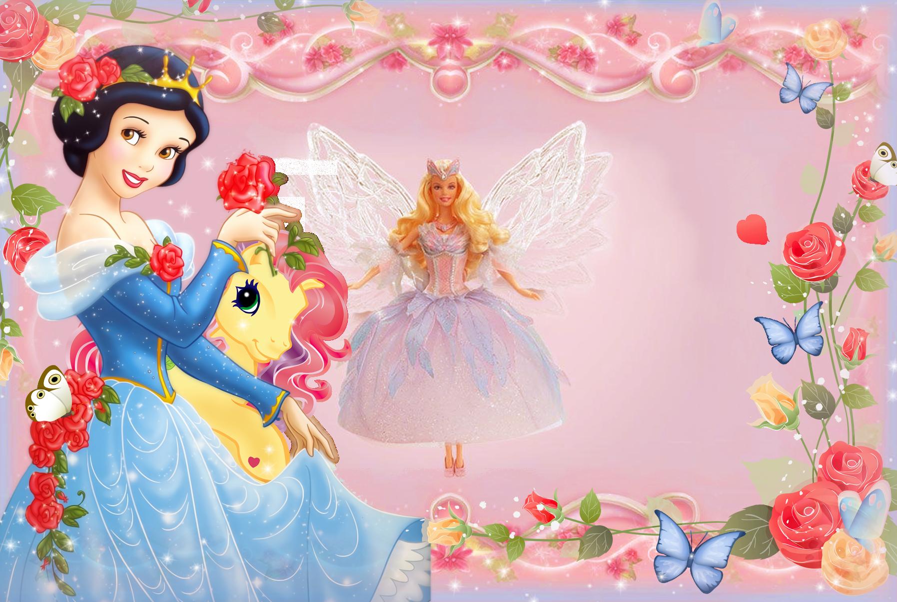 Girls transparent frame with. Clipart frames princess