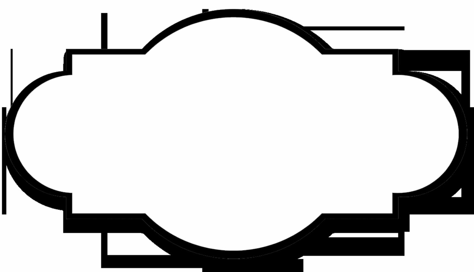 shared simple label. Bracket frame png