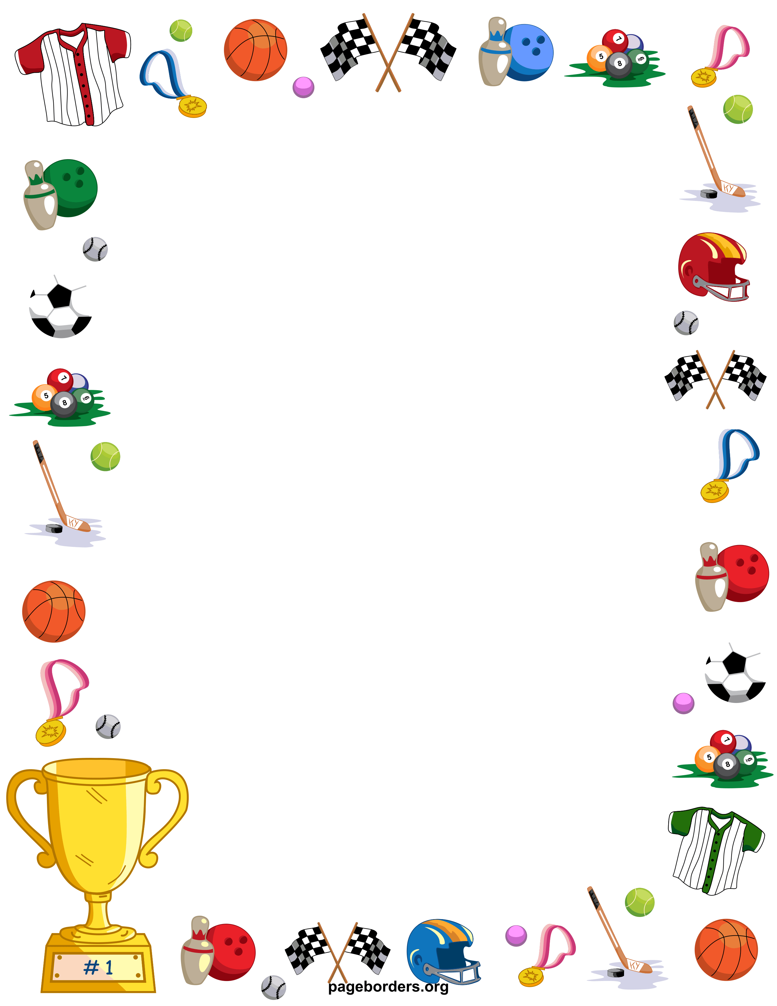Frame clipart sport. Sports cliparts zone