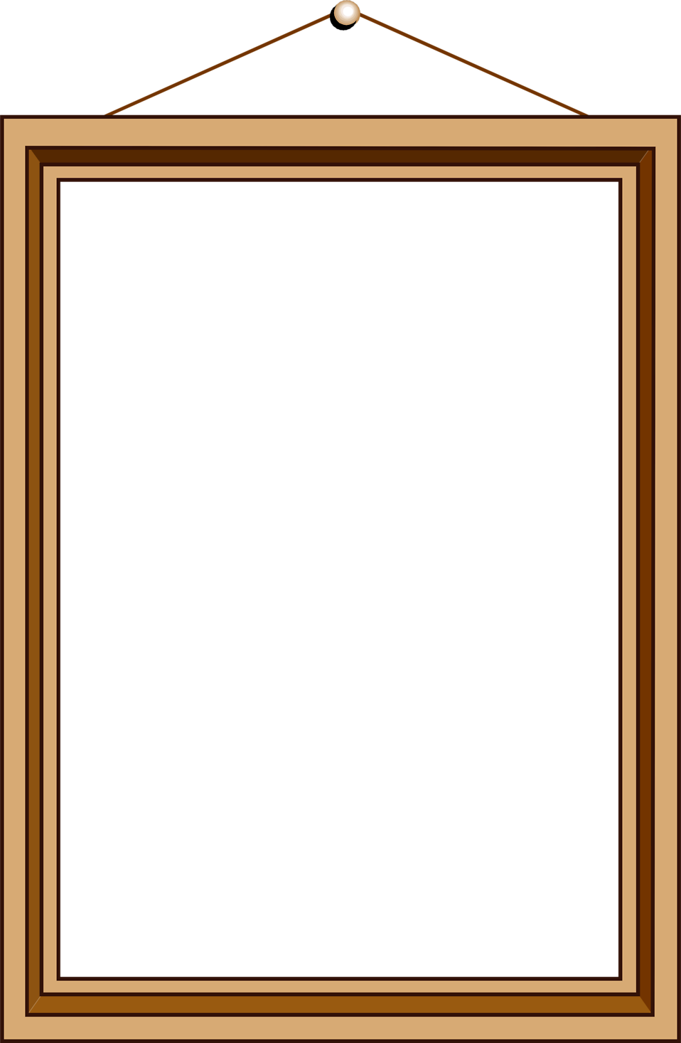 Square clipart blank square. Picture frame free stock