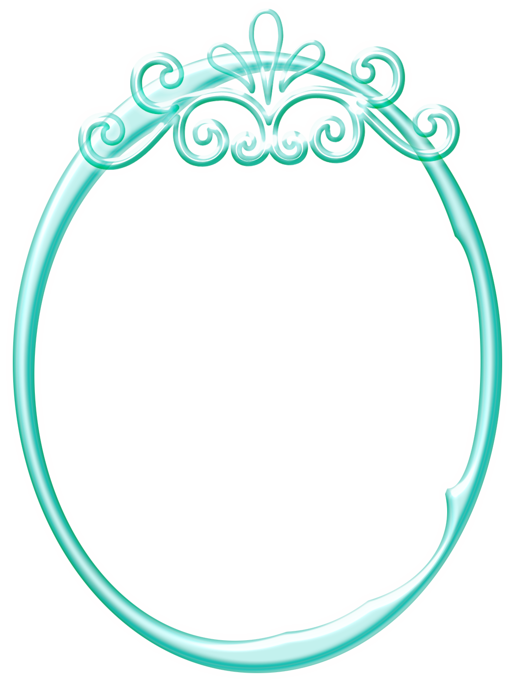 Frame moldura azul png. Clipart frames teal