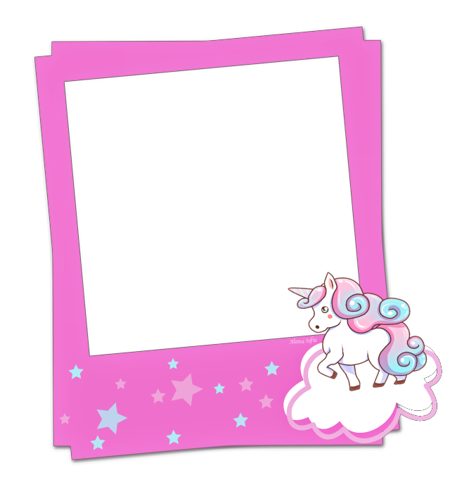 Clipart unicorn frame. Pin by the moon