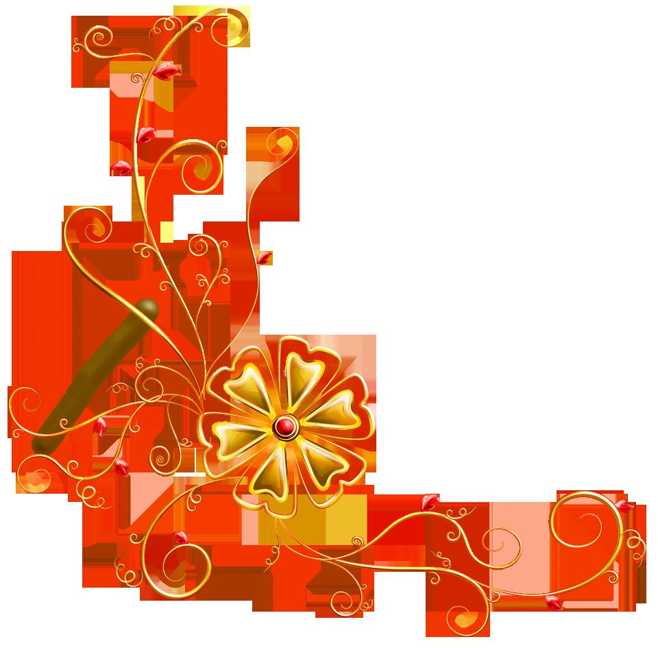 Flourish clipart embellishment. Transparent floral deco ornament