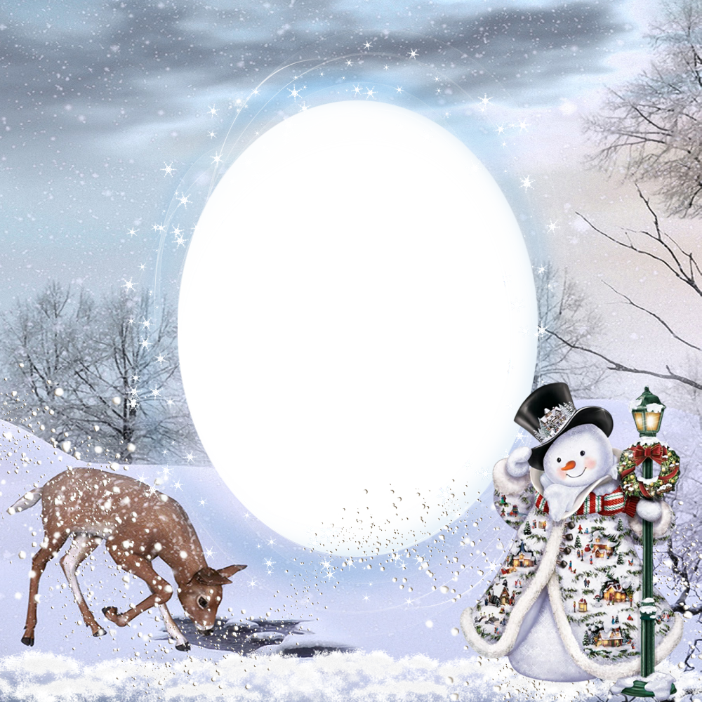 Transparent christmas png photo. Clipart winter frame