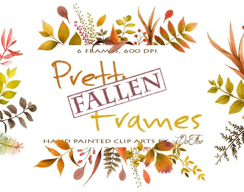Greenery fall leaf leaves. Woodland clipart frame