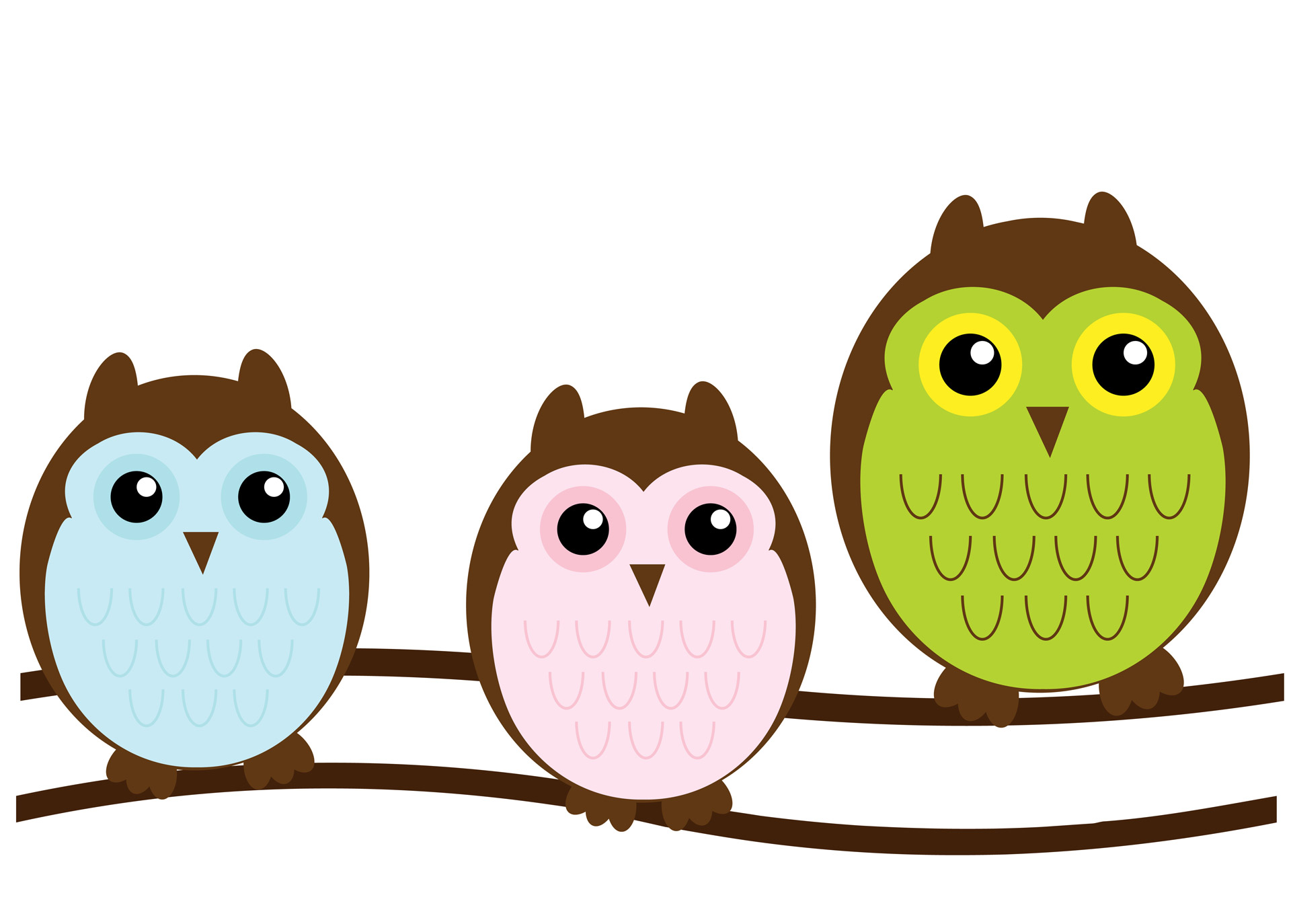 Owl family cute stock. Clipart free