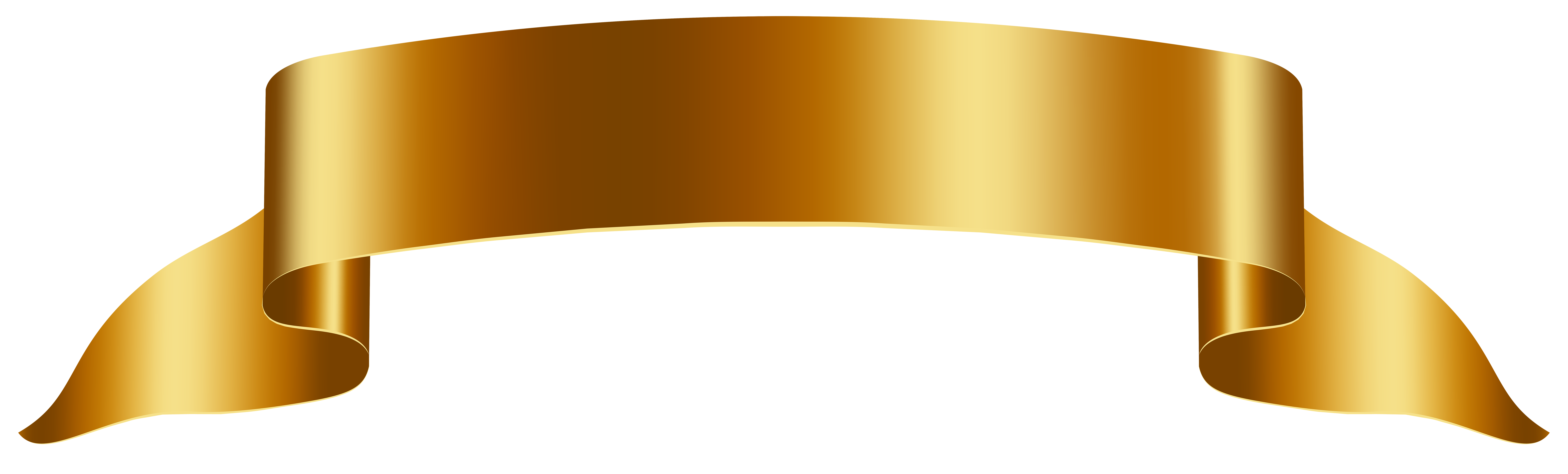 Gold png clip art. Clipart free banner