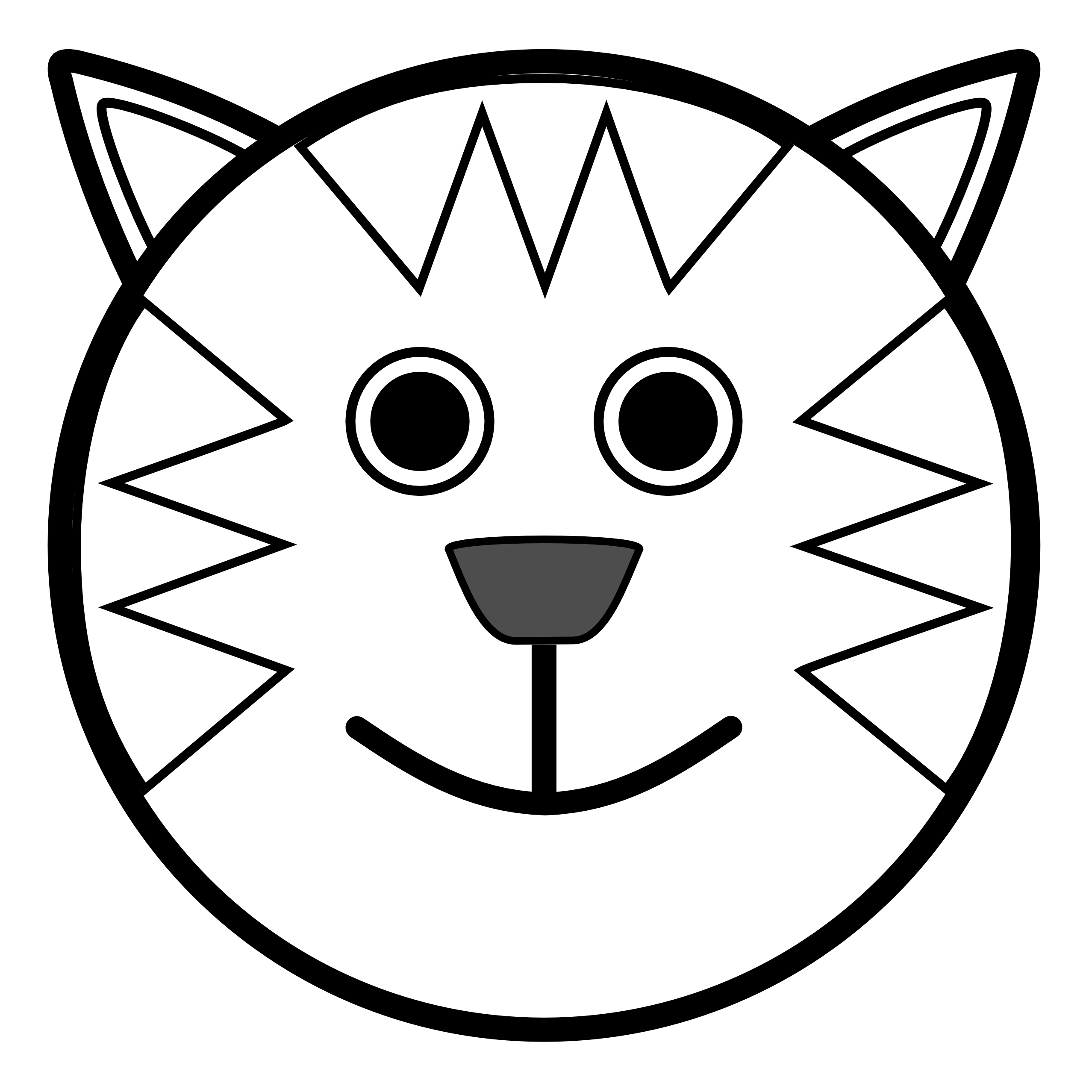 Face clipart black and white.  collection of free