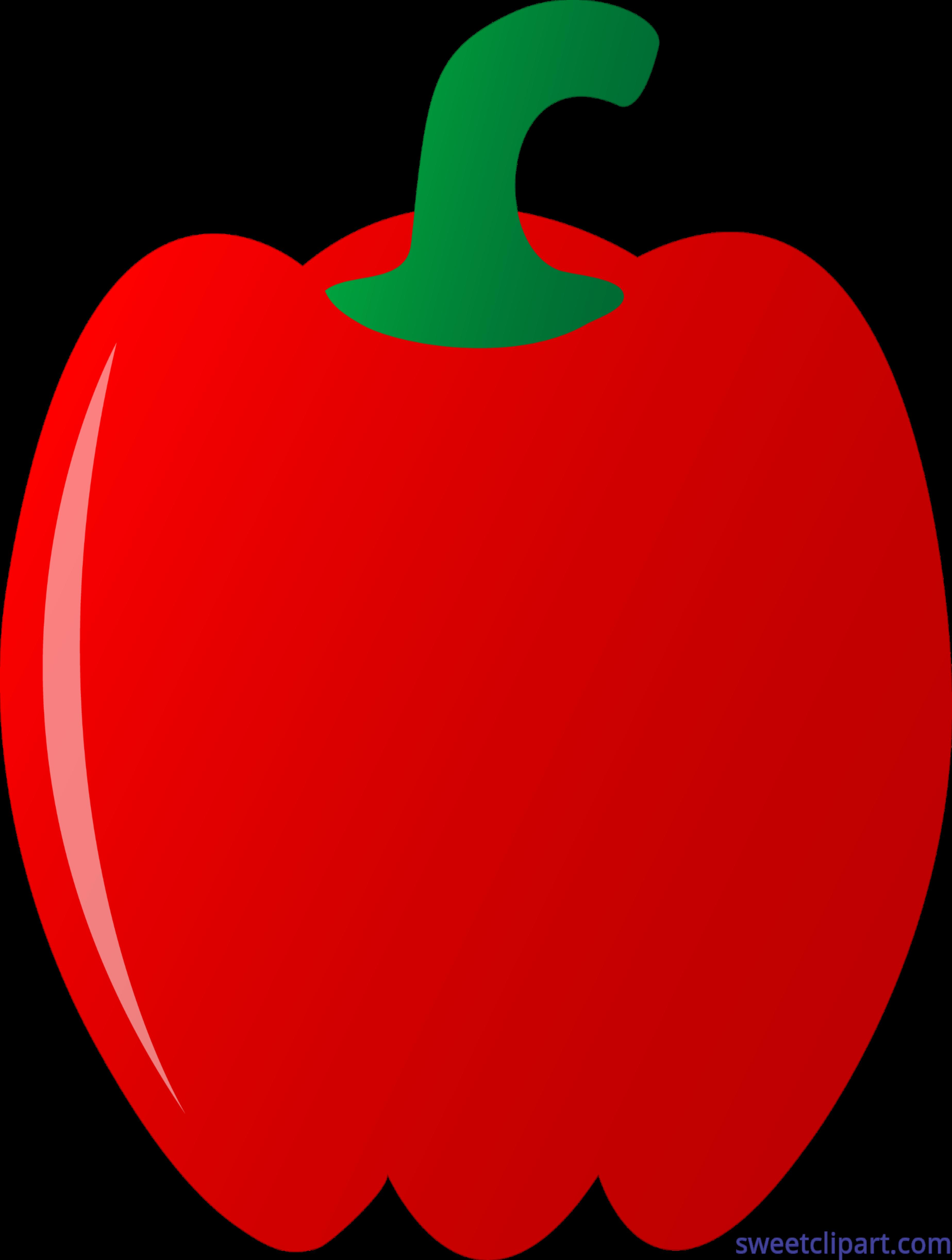 Red bell pepper clip. Peppers clipart capsicum