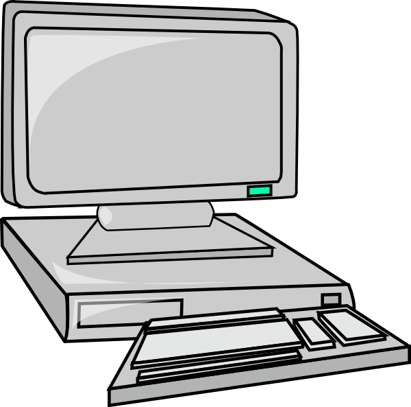 Computers clipart computer workstation. Panda free images computerclipart