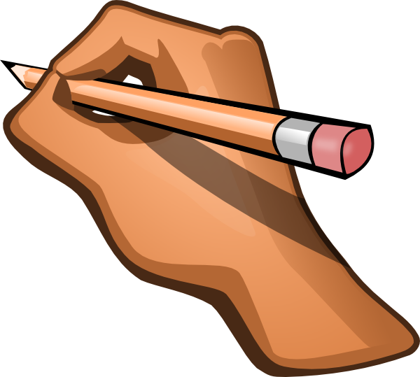 Pencil handwriting and in. Writer clipart writter