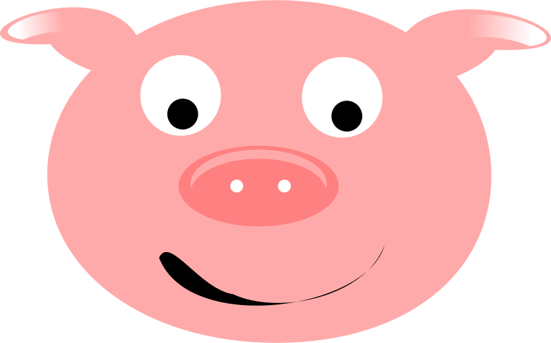 Face download clip art. Pig clipart clear background