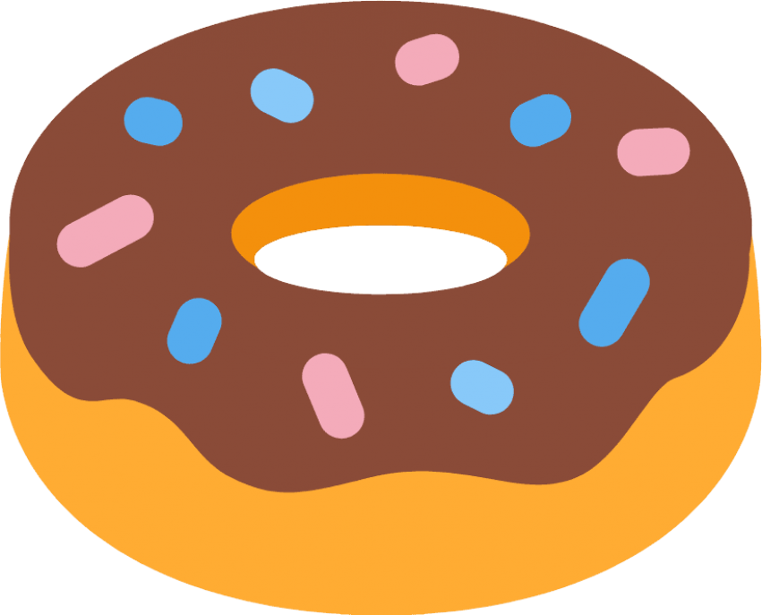 Doughnut clipart transparent background. Donut png free images