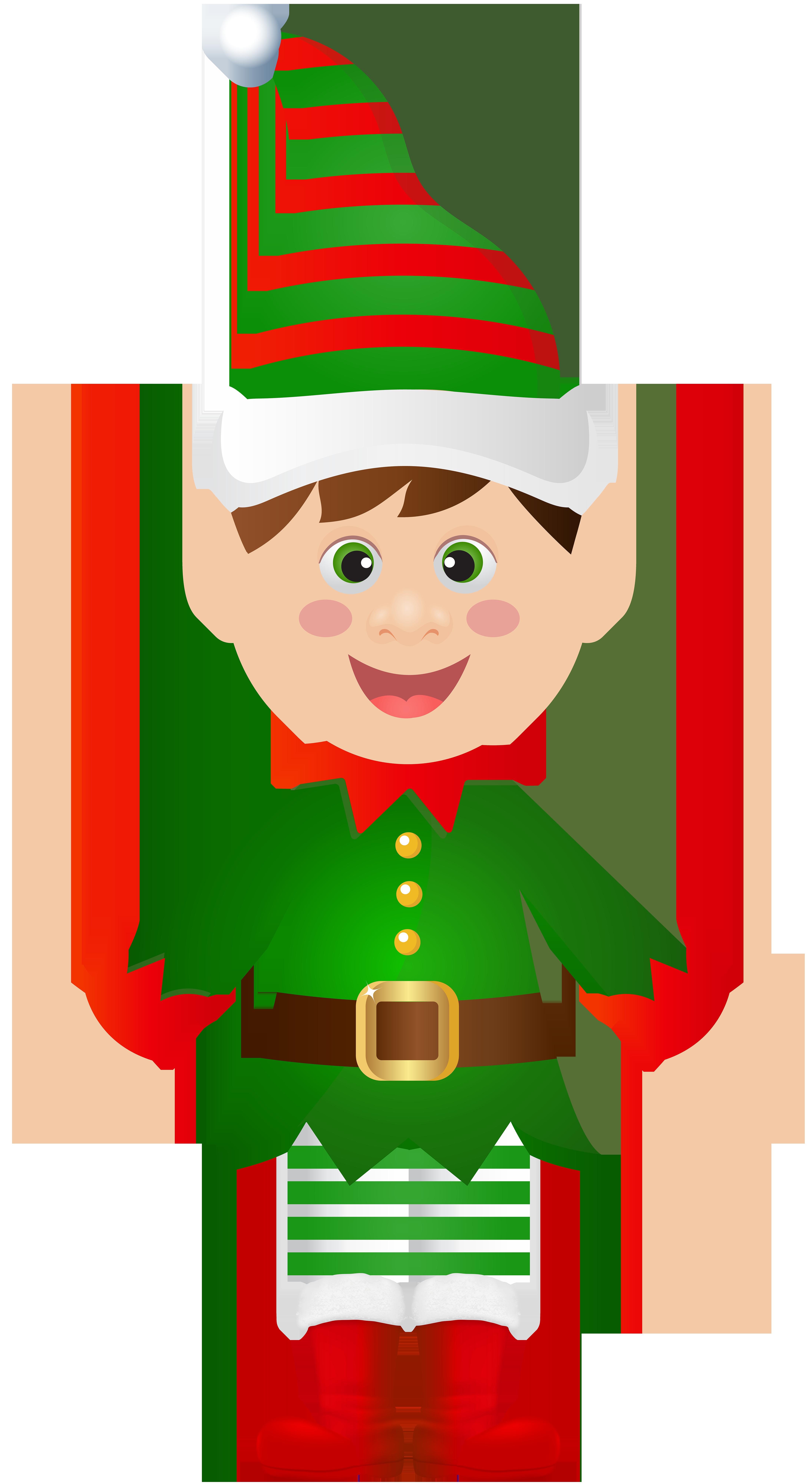Christmas transparent clip art. Picture clipart elf