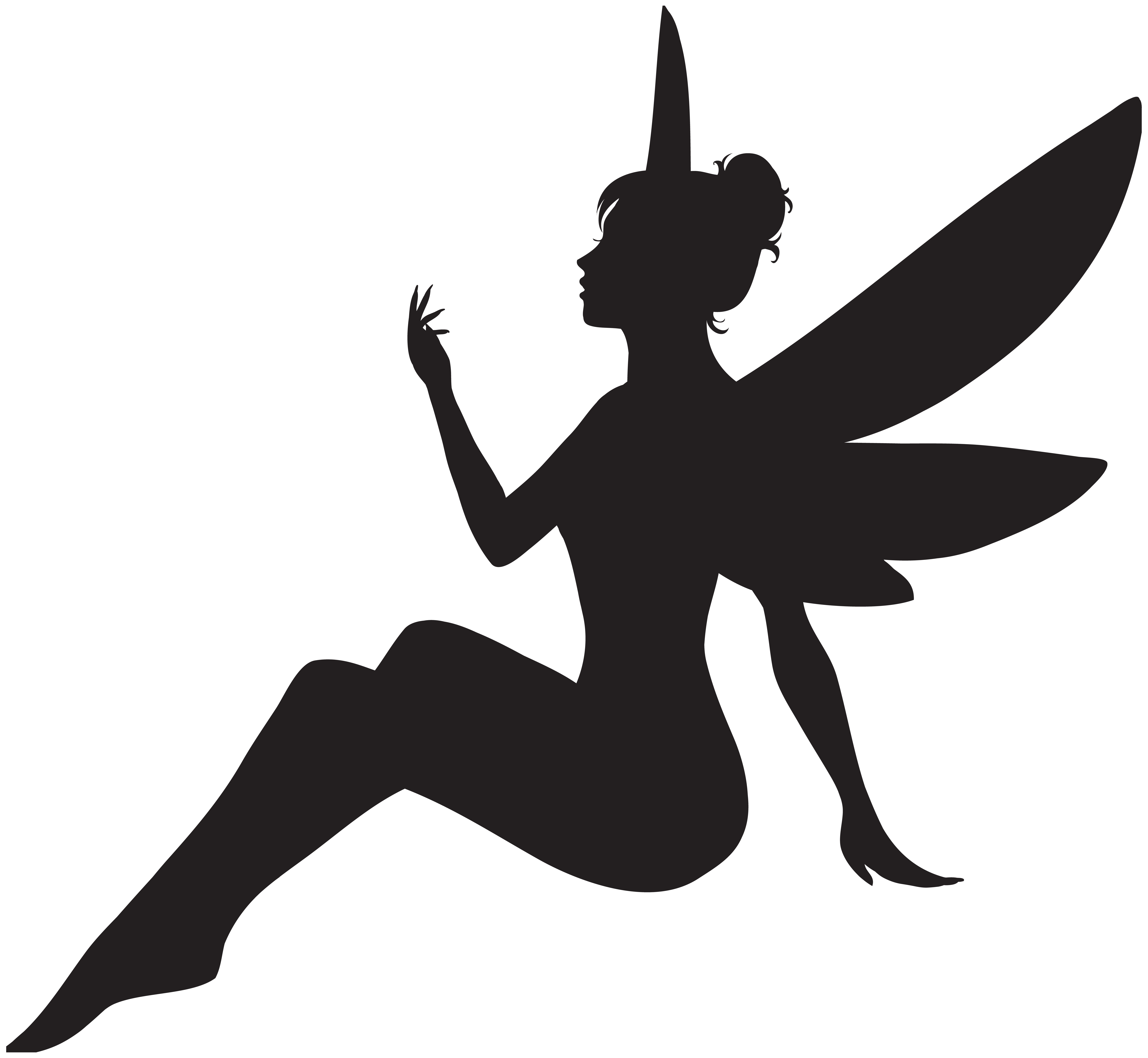 Free clipart fairy. Silhouette at getdrawings com