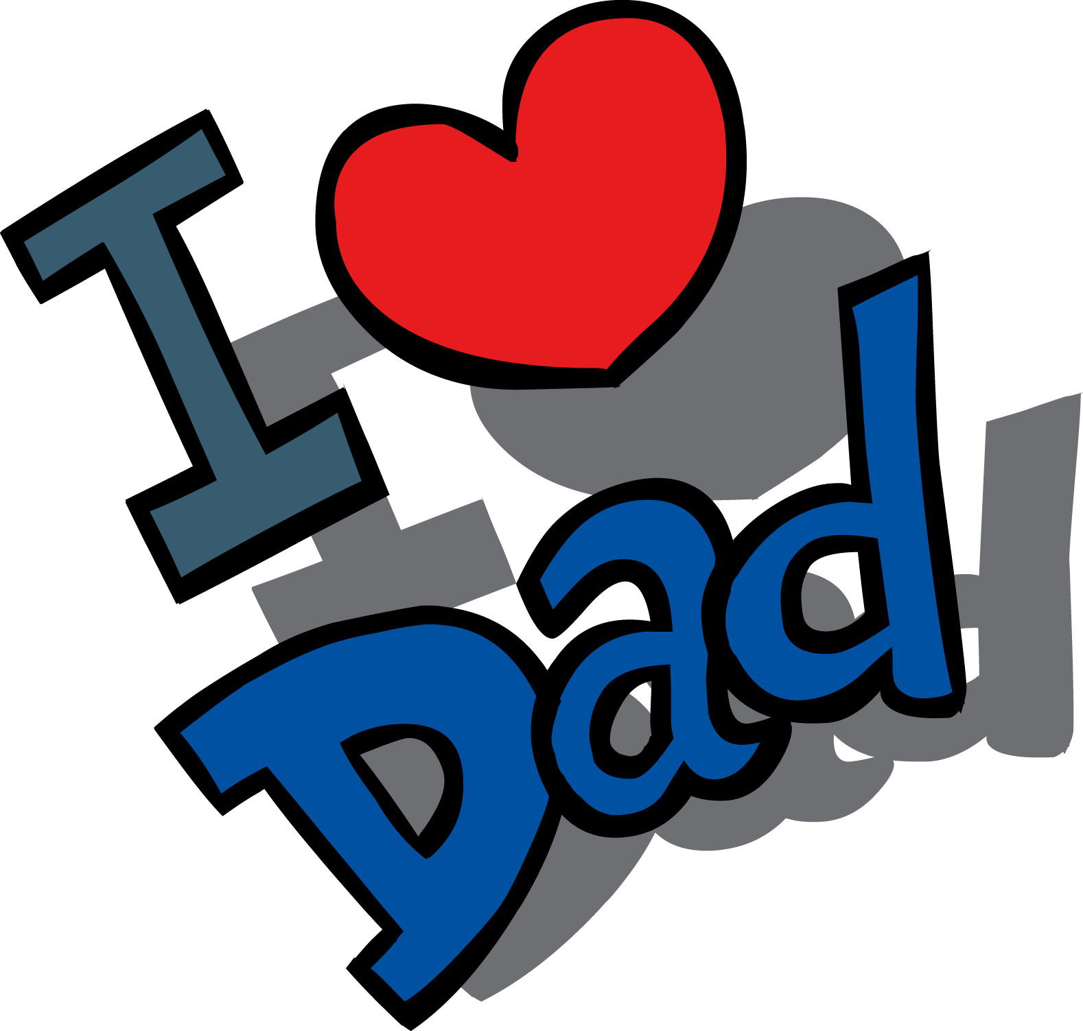 Father clipart love you dad. Fathers day transparent png
