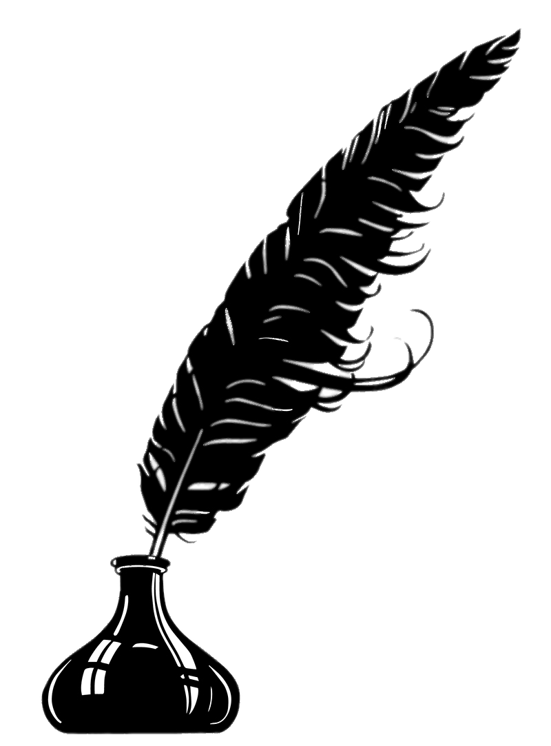 Clipart free feather. Quill pen transparent png