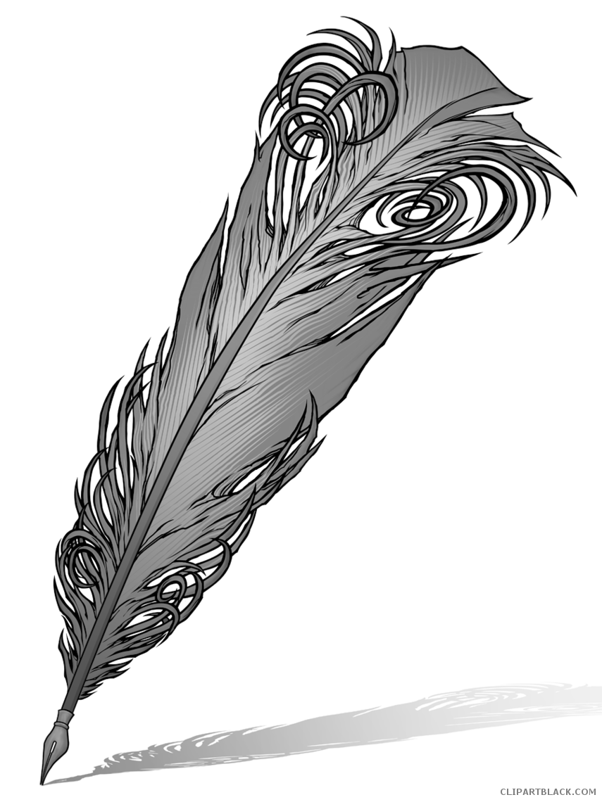 Quill pen clipartblack com. Clipart free feather