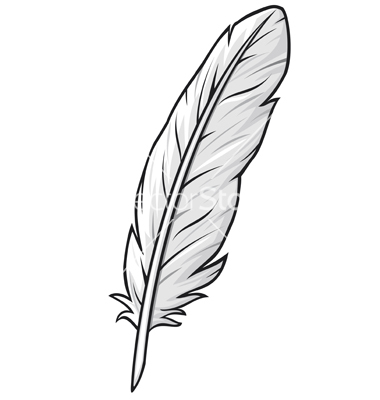 Free outline cliparts download. Feather clipart simple