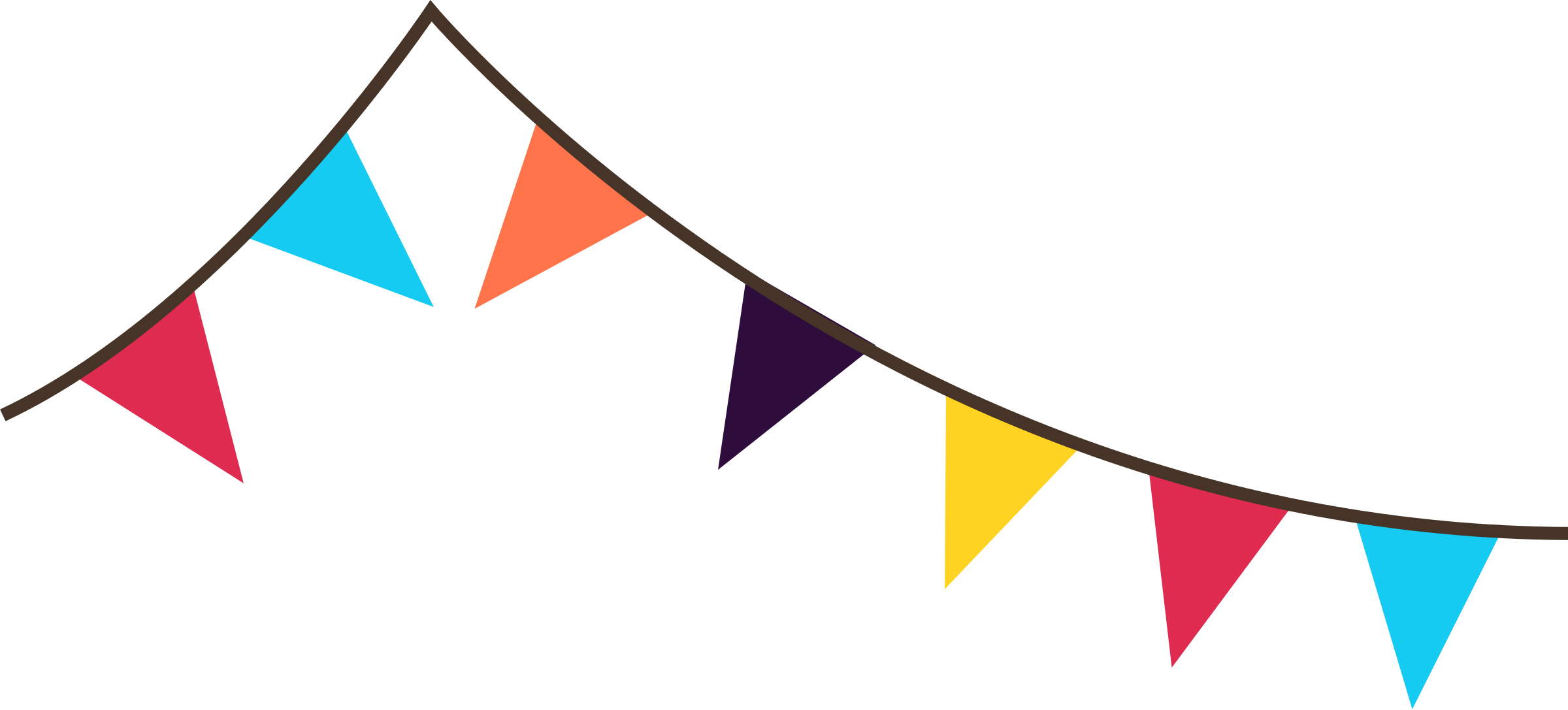 Free carnival flag cliparts. Divider clipart banner