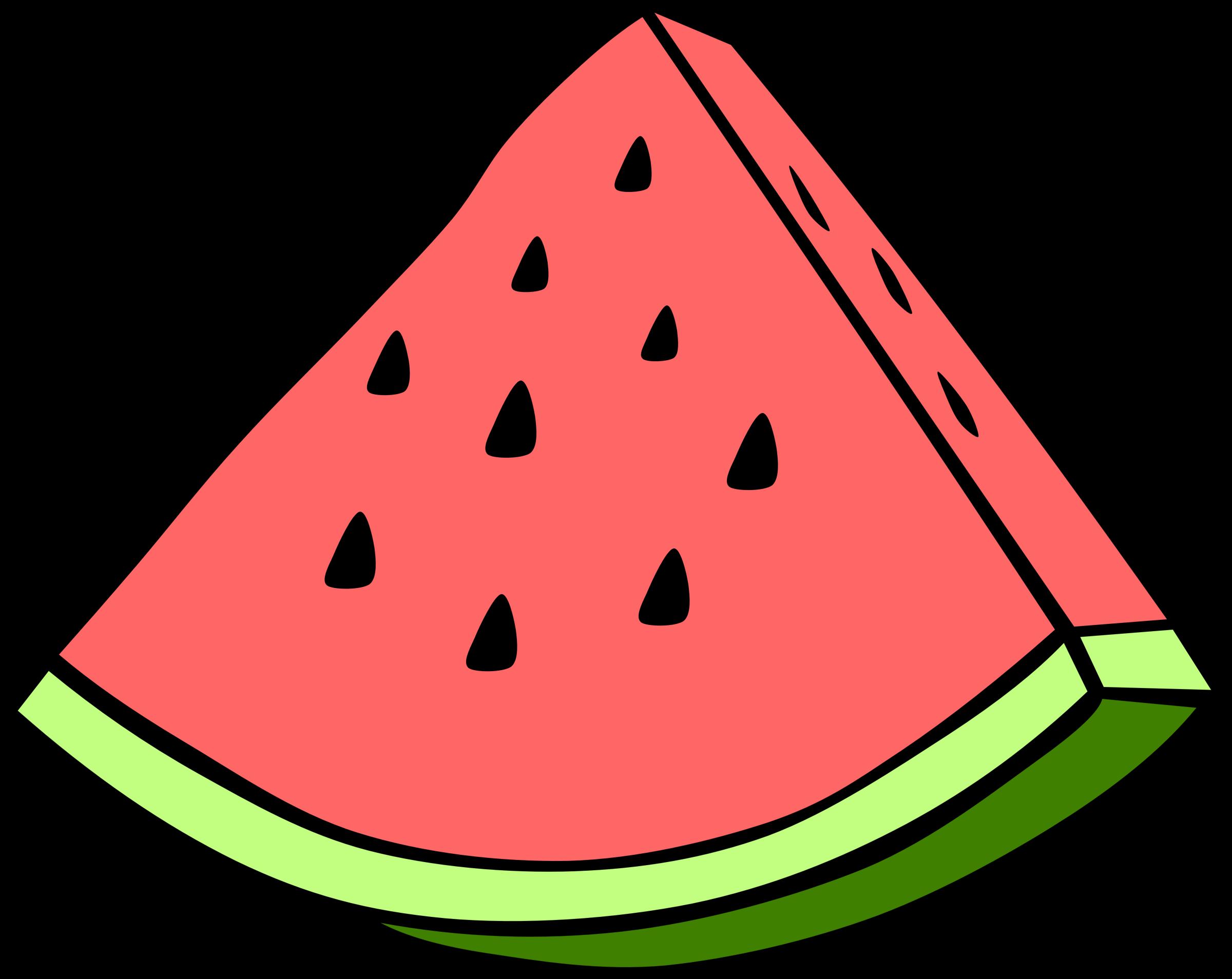 Clipart free fruit. Simple watermelon big image