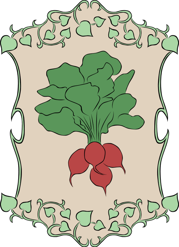 Clipart free garden. Sign radish recipes vegetables