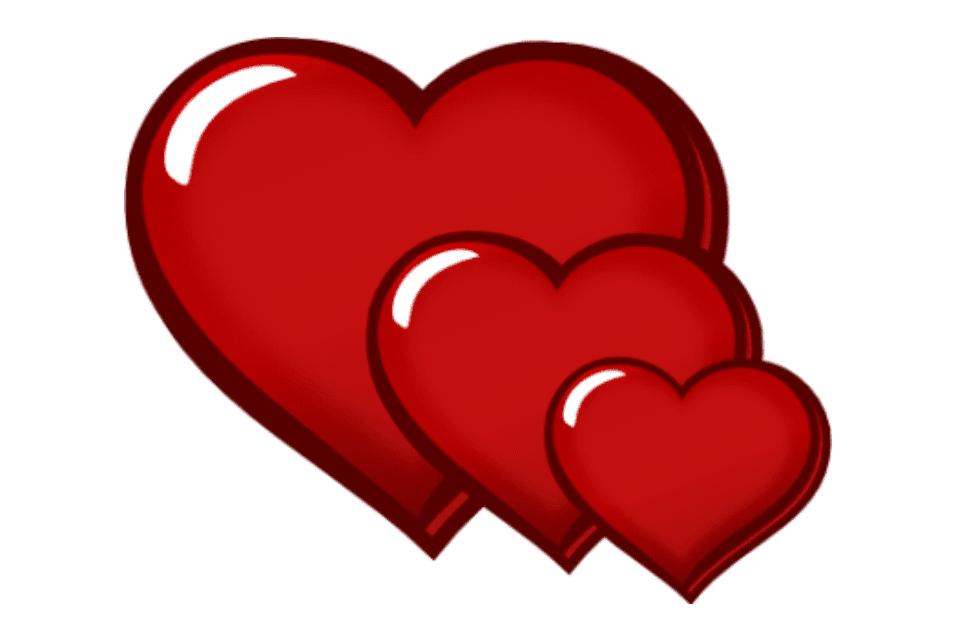 Heat clipart three heart.  free clip art