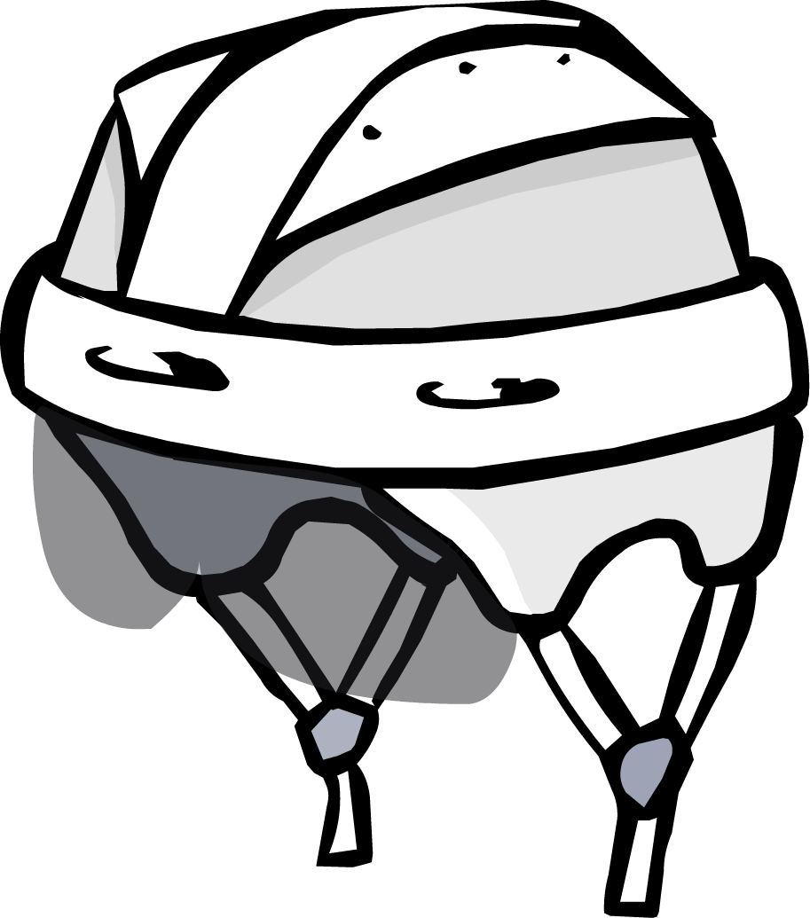 Helmet clipart file. Hockey club penguin wiki