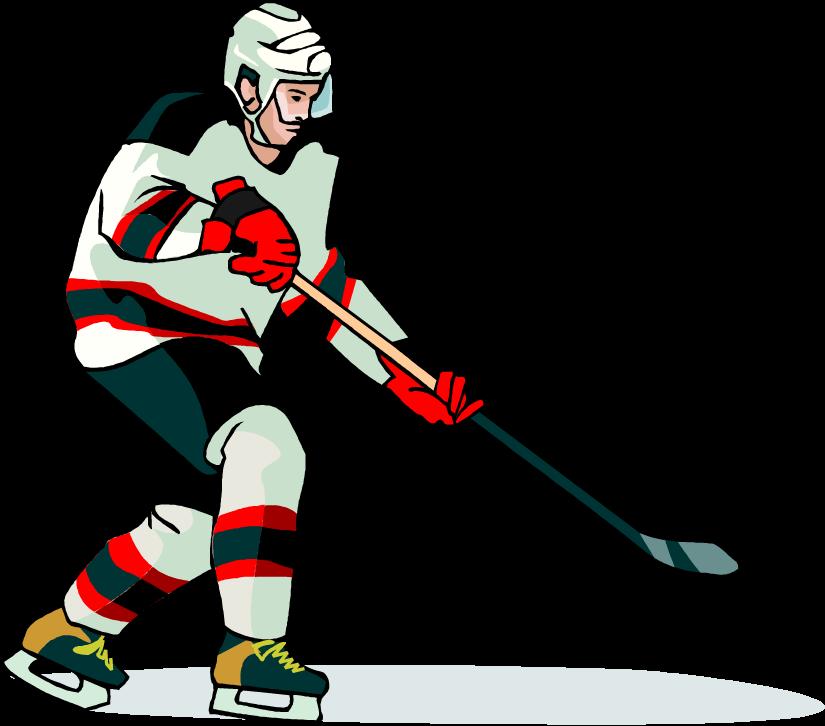 Free player book art. Hockey clipart vector