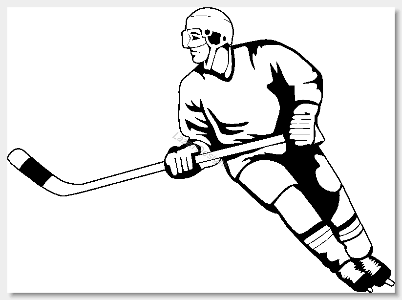 Clip images free clipartix. Hockey clipart line art