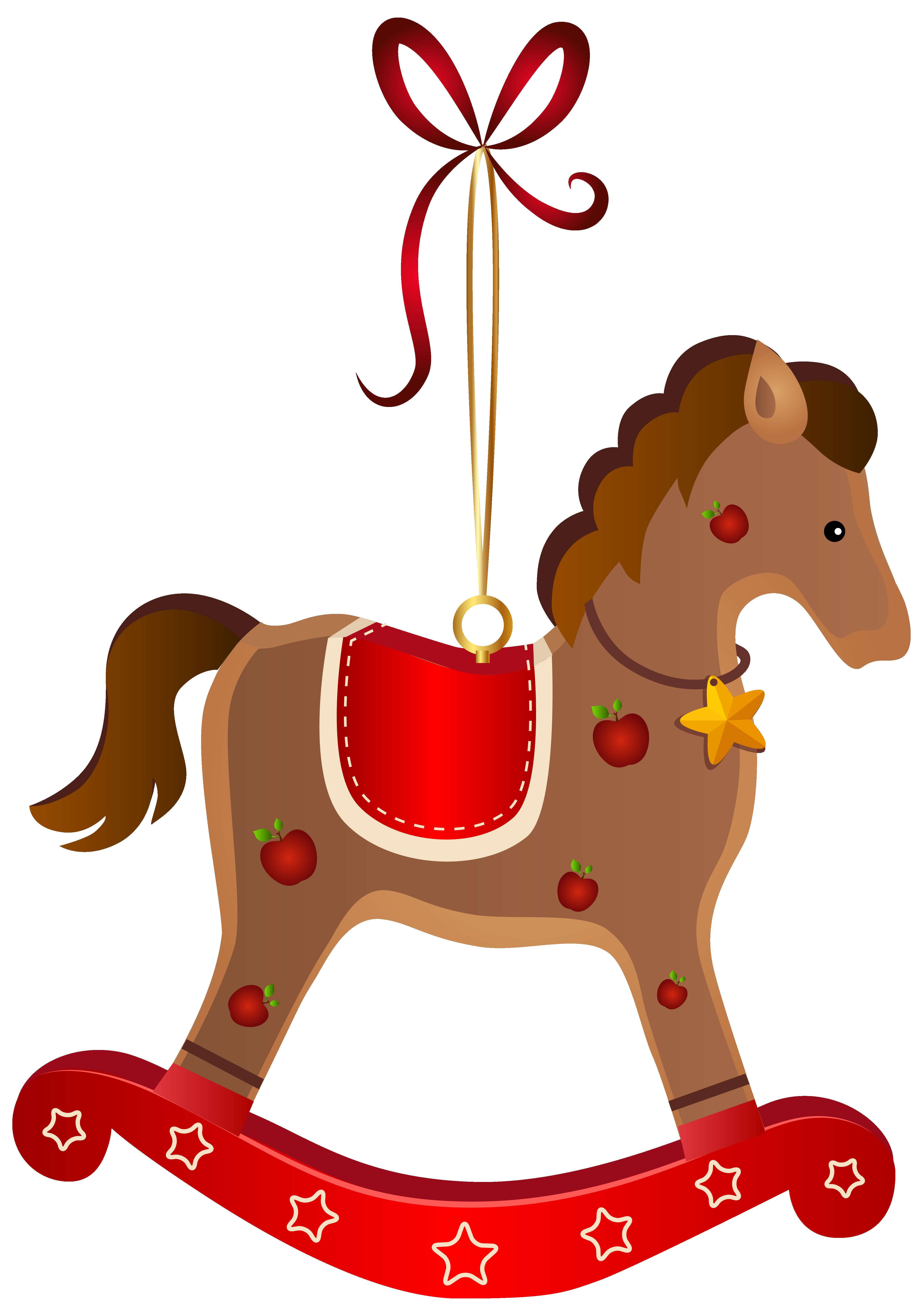 santa clipart horse