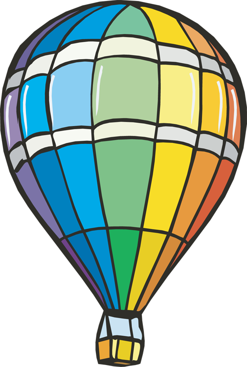 Air balloon outline panda. Hot clipart clip art