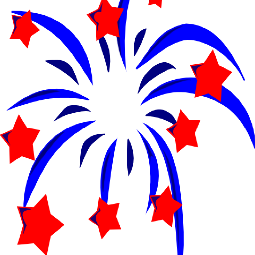 th of july. Fireworks clipart banner