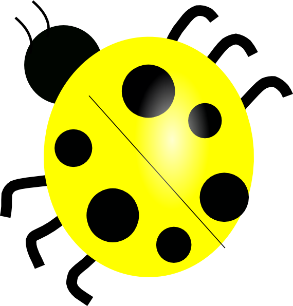 Ladybug clipart animated. Yellow clip art at