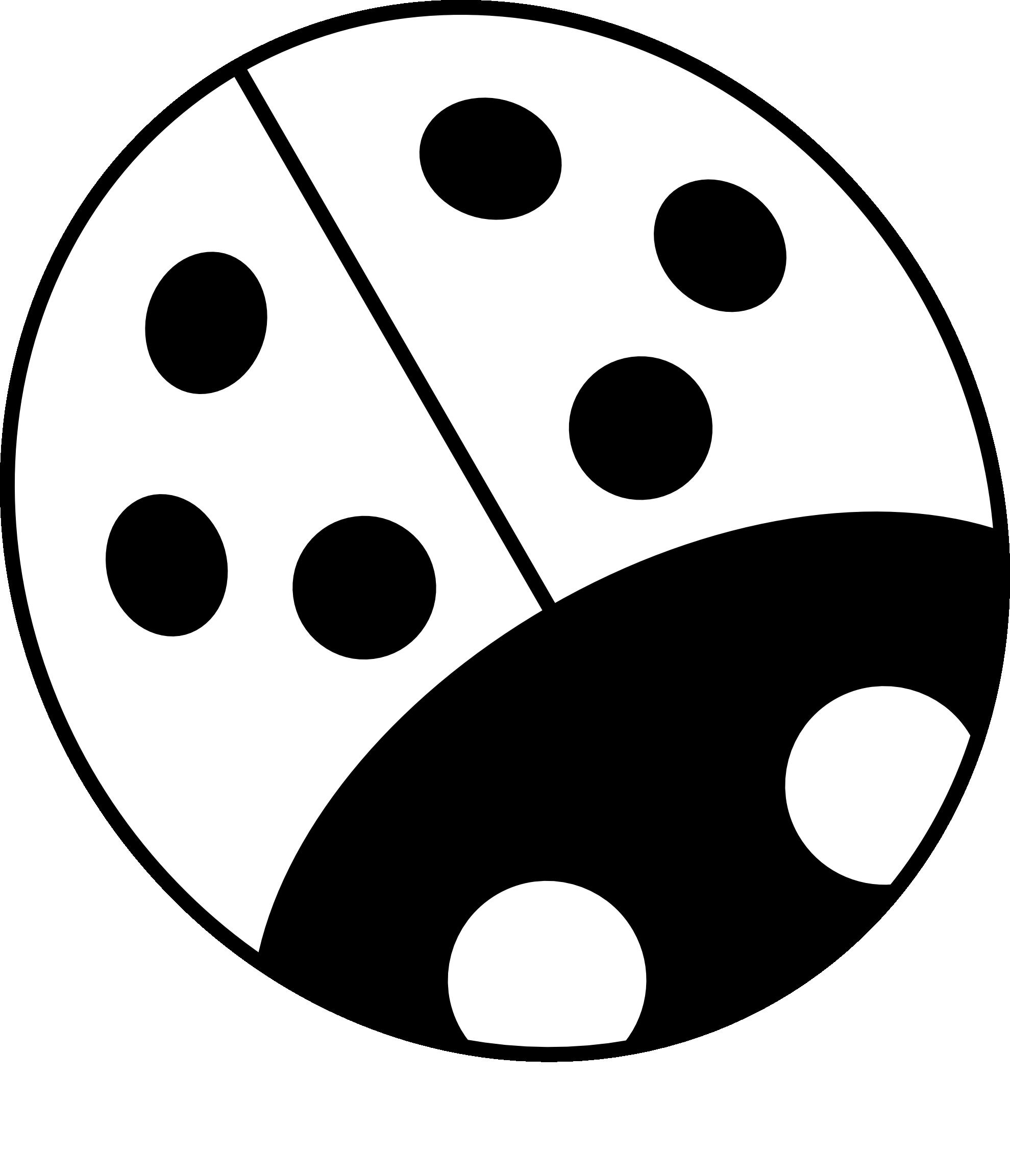 Ladybug black and white. Ladybugs clipart minibeast