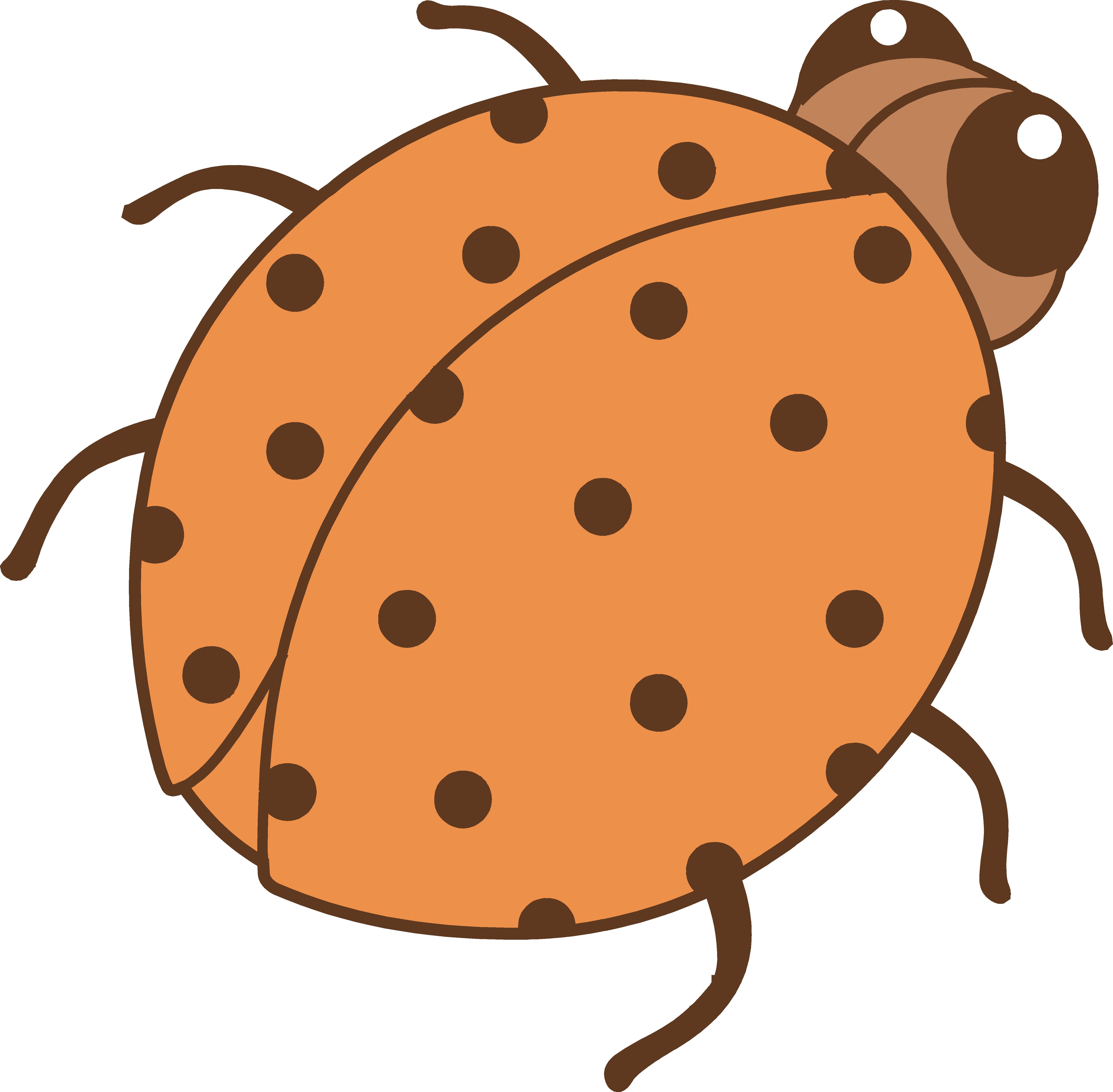 Cute orange ladybug clip. Ladybugs clipart little bug