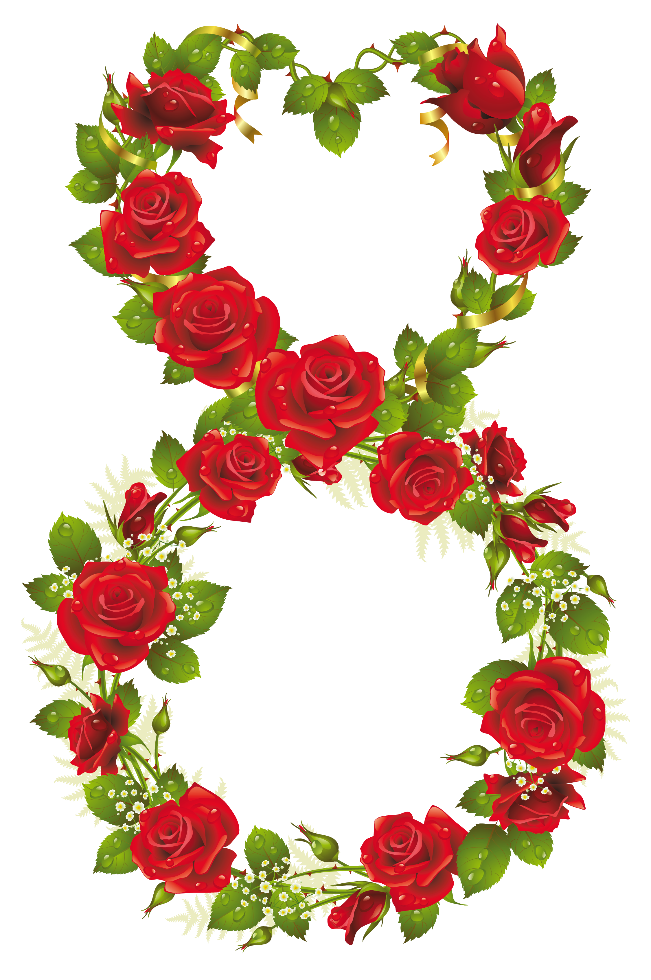 Eighth of with roses. March clipart flower garden