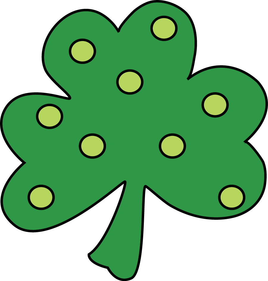 Inspirational of shamrock black. Cute clipart march