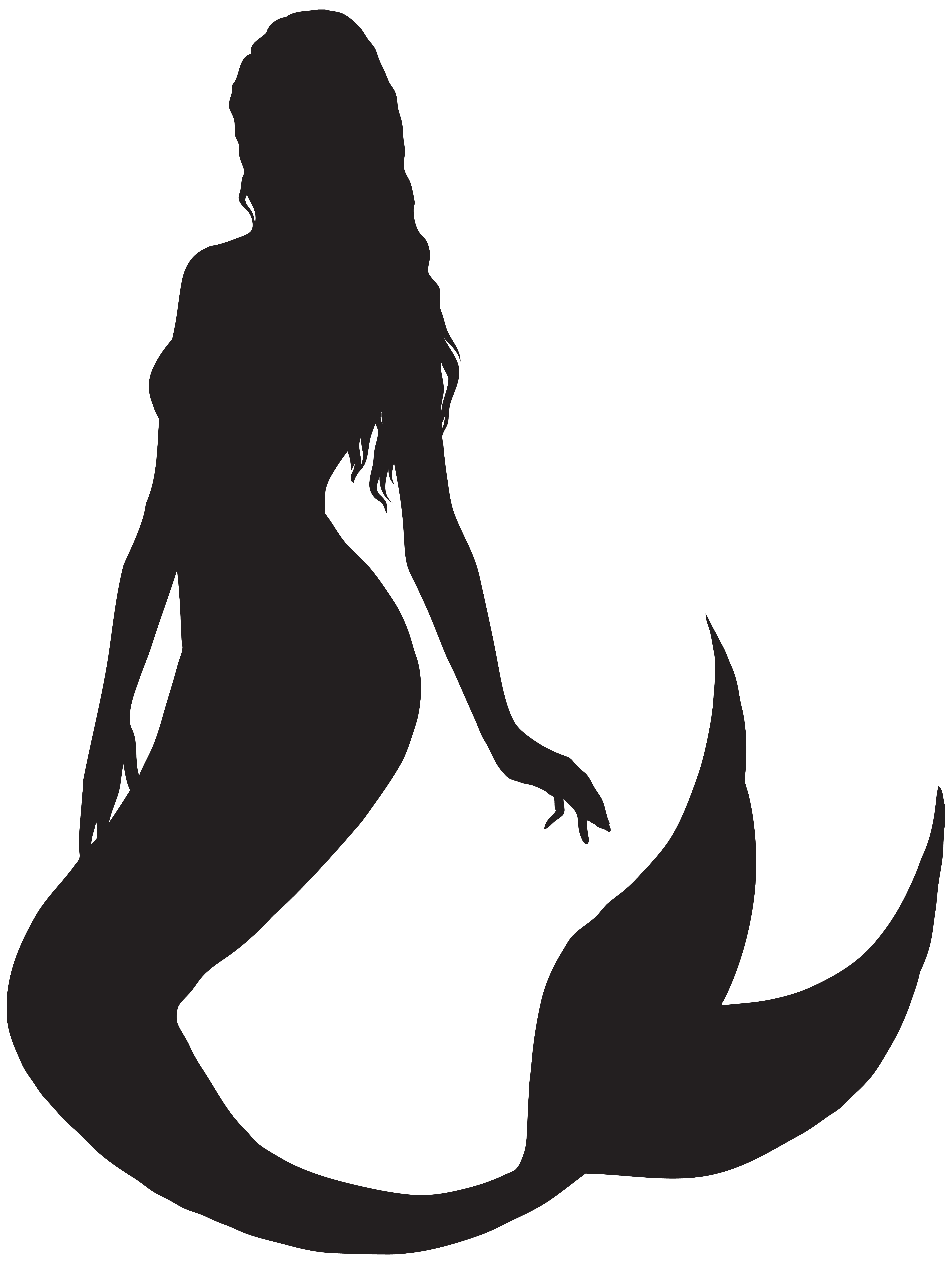 Mermaid clipart background. Silhouette png clip art