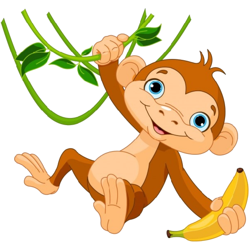 Free monkey ice cream. Monkeys clipart tree