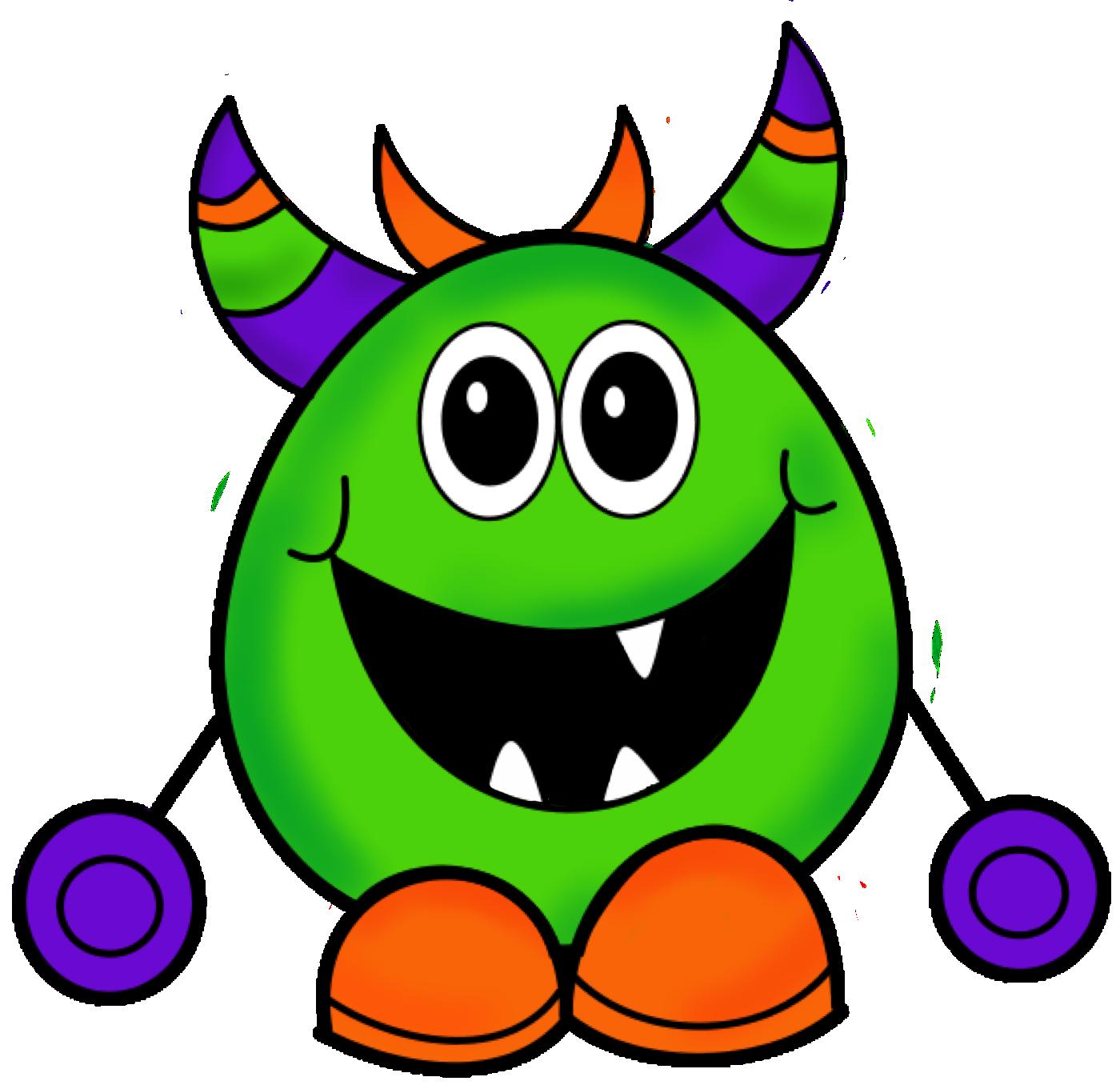 Free monster clip art. Clipart halloween face