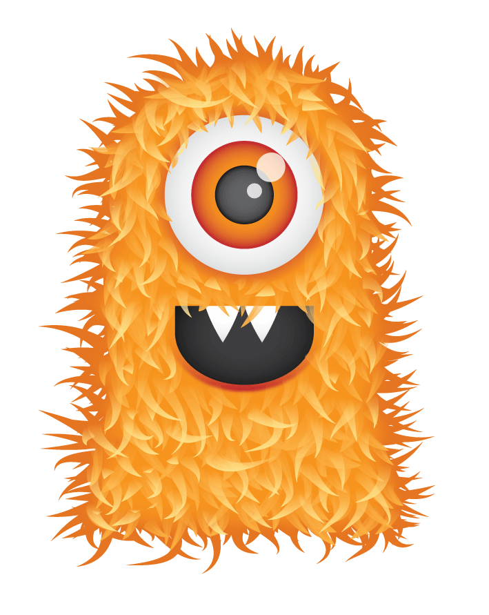 Clipart halloween alien. Free cute hairy monster