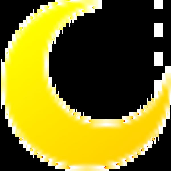 Clipart moon curved. Cartoon free clip art