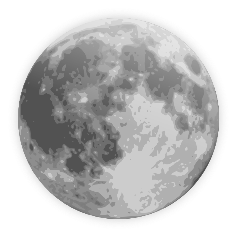 Free clip art icon. Moon clipart weather
