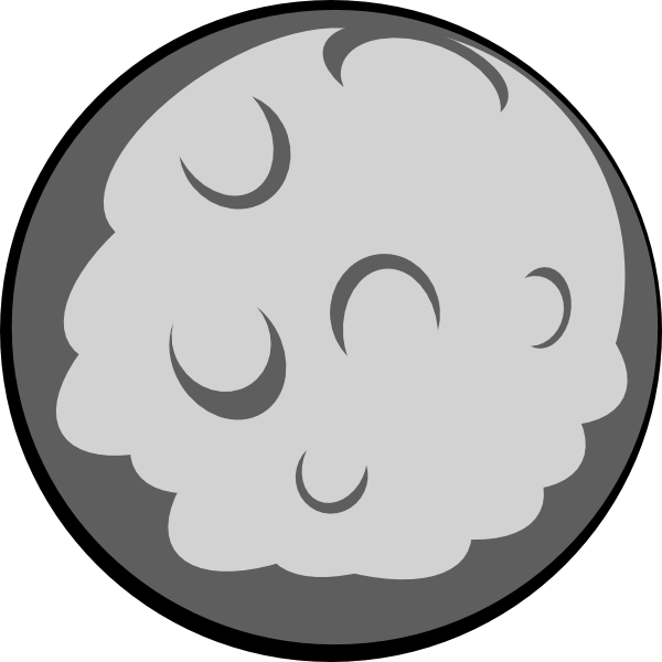 Clipart moon black and white. Clip art free images