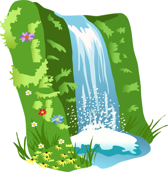 Waterfall free content clip. Nature clipart mountain