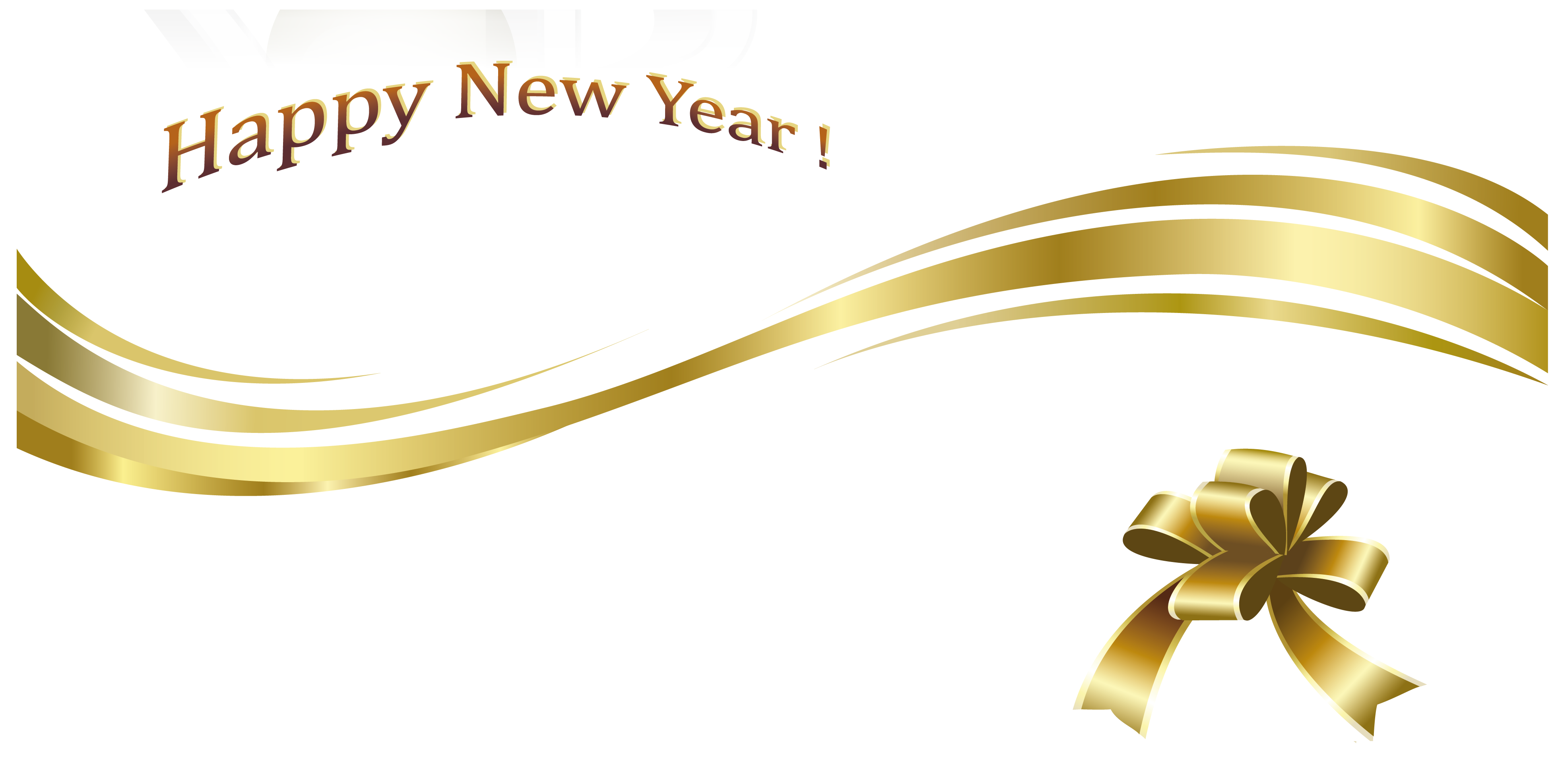 Happy gold text and. Clipart free new year