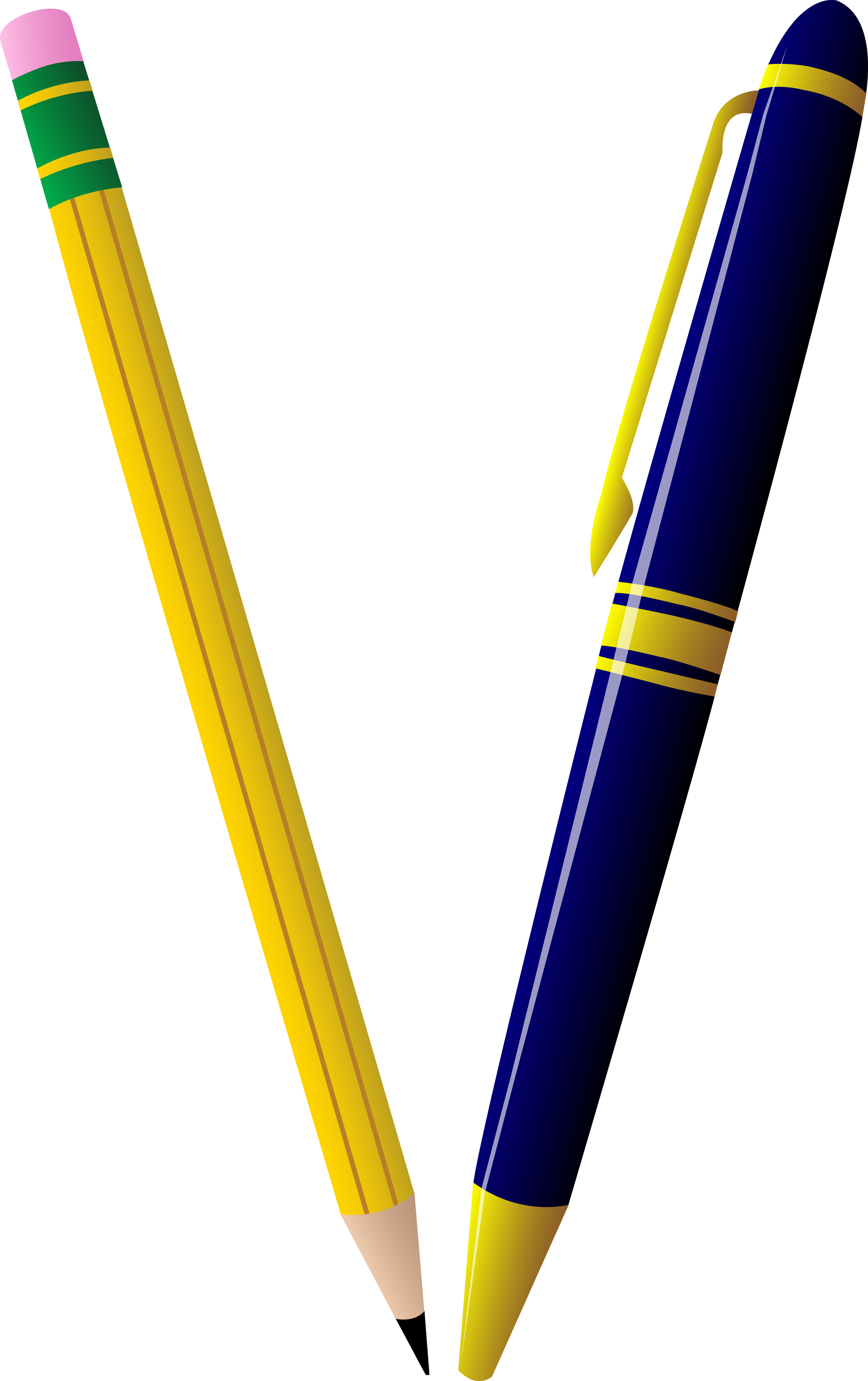 Clipart pencil art supply. And pen duo free