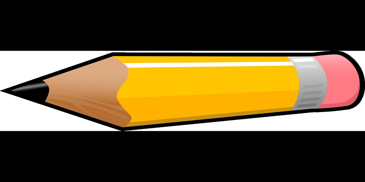 Free pencil clip art. Eraser clipart horizontal