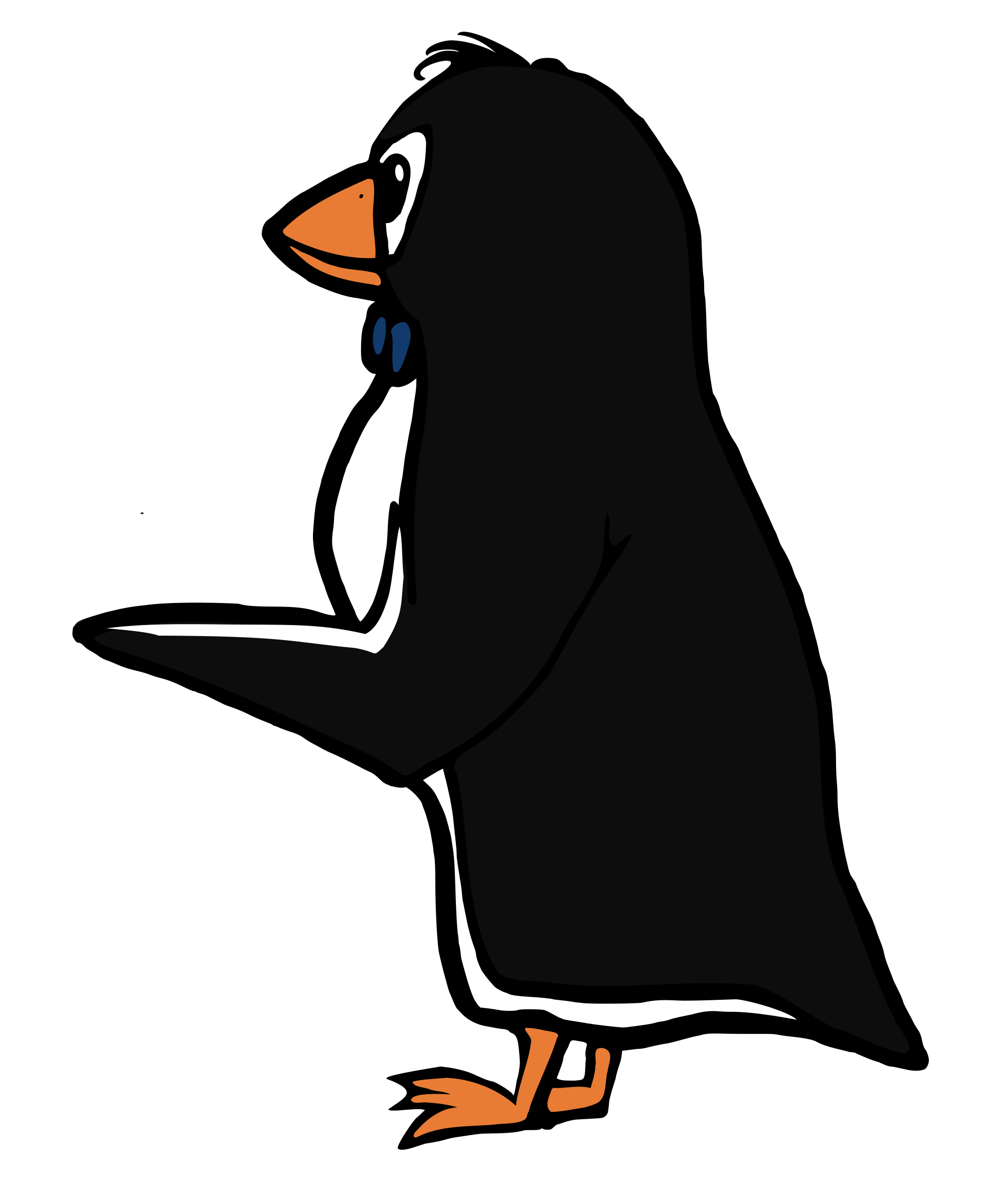 Pointing penguin big image. Clipart penquin design